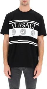 Czarny t-shirt Versace z krótkim rękawem