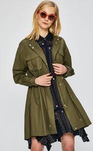 Zielona kurtka Only długa