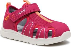 Różowe buty dziecięce letnie Superfit na rzepy dla dziewczynek