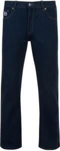 Granatowe jeansy Kam z bawełny