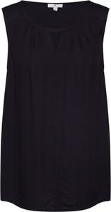 Czarna bluzka Tom Tailor bez rękawów w stylu casual