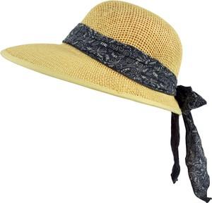 Jk collection kapelusz letni. - granatowy || cappucino