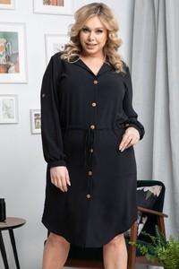 Czarna sukienka KARKO w stylu casual z tkaniny mini