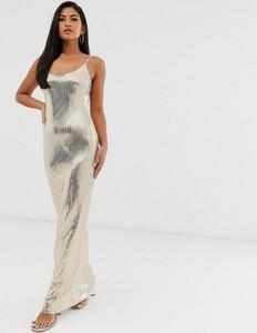 Złota sukienka Missguided na ramiączkach