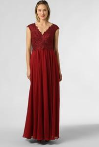 Sukienka Luxuar Fashion bez rękawów z szyfonu
