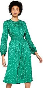 Sukienka amazon.de z długim rękawem midi z okrągłym dekoltem