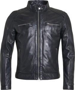Czarna kurtka ROCKANDBLUE w stylu casual ze skóry krótka