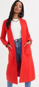 Czerwony płaszcz Helene Berman z wełny