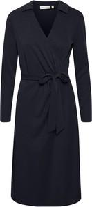 Sukienka InWear z dekoltem w kształcie litery v mini z długim rękawem