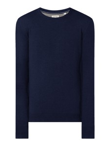 Granatowy sweter Esprit z bawełny w stylu casual