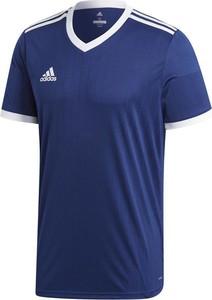 Niebieska koszulka dziecięca Adidas z dżerseju z krótkim rękawem dla chłopców