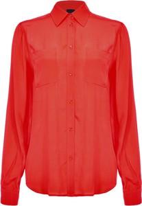 Czerwona koszula Pinko w stylu casual
