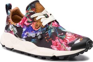 Buty sportowe Flower Mountain ze skóry sznurowane w sportowym stylu