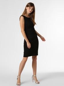 Czarna sukienka Ambiance z okrągłym dekoltem mini na ramiączkach