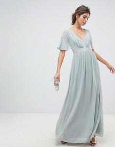 Sukienka Little Mistress z szyfonu z krótkim rękawem