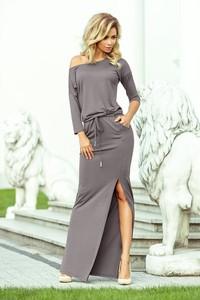 Sukienka NUMOCO z tkaniny w stylu casual maxi