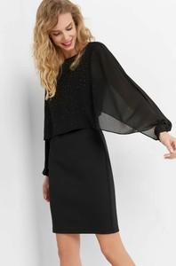 Czarna sukienka ORSAY z tkaniny midi