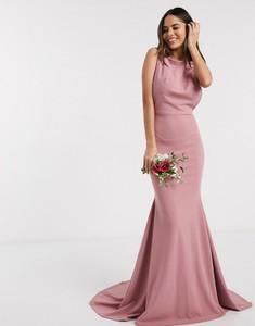 Różowa sukienka Missguided maxi bez rękawów
