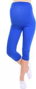Inne Komfortowe legginsy ciążowe 3/4 niebieskie