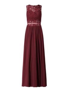 Czerwona sukienka Laona z tiulu maxi