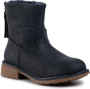 Czarne buty dziecięce zimowe Nelli Blu na zamek