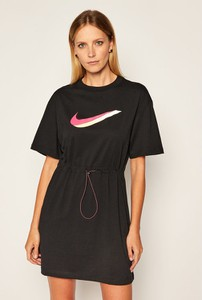 Sukienka Nike z okrągłym dekoltem z krótkim rękawem
