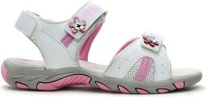 Buty dziecięce letnie American Club w kwiatki na rzepy dla dziewczynek