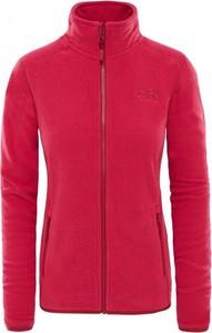 Różowa bluza The North Face z weluru