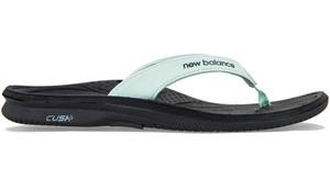 Klapki New Balance z płaską podeszwą