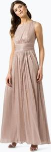 Różowa sukienka Marie Lund bez rękawów rozkloszowana