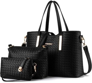 Czarna torebka Cikelly na ramię duża lakierowana
