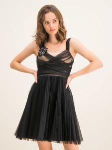 Sukienka Pinko bez rękawów z okrągłym dekoltem mini