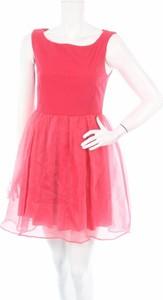 Różowa sukienka Lunatic z okrągłym dekoltem mini bez rękawów