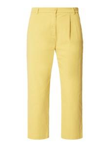 Żółte spodnie Weekend Max Mara z bawełny