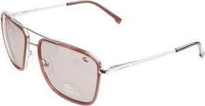 Srebrne okulary damskie Lacoste