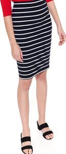 Granatowa spódnica Top Secret z dzianiny w stylu casual