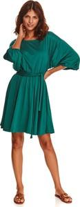 Zielona sukienka Top Secret koszulowa z długim rękawem