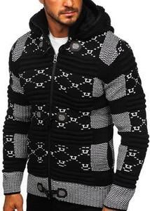Czarny sweter Denley w młodzieżowym stylu