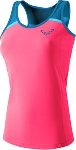 Różowa bluzka Dynafit w sportowym stylu z okrągłym dekoltem
