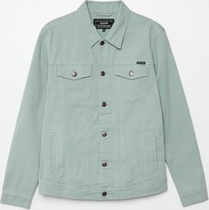 Zielona kurtka Cropp z jeansu krótka