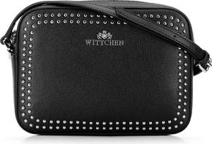 Czarna torebka Wittchen na ramię zdobiona