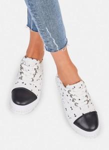 Deezee białe ozdobne buty sportowe fashion madame