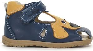 Granatowe buty dziecięce letnie RenBut ze skóry dla chłopców