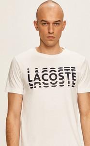 T-shirt Lacoste z krótkim rękawem z bawełny