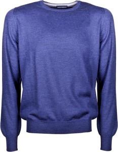 Niebieski sweter Paolo Fiorillo Capri w stylu casual z wełny