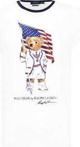 T-shirt POLO RALPH LAUREN z nadrukiem w młodzieżowym stylu z krótkim rękawem