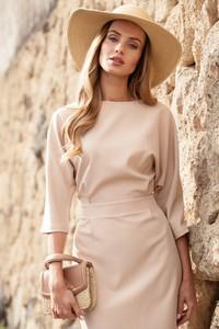Sukienka MOE w stylu casual dopasowana midi