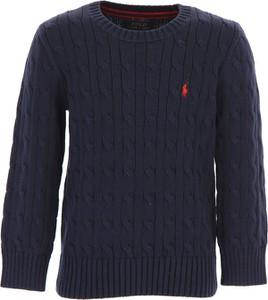 Niebieski sweter Ralph Lauren z bawełny