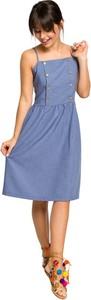 Sukienka Be na ramiączkach z tkaniny