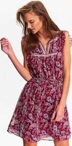 Bordowa sukienka Top Secret
